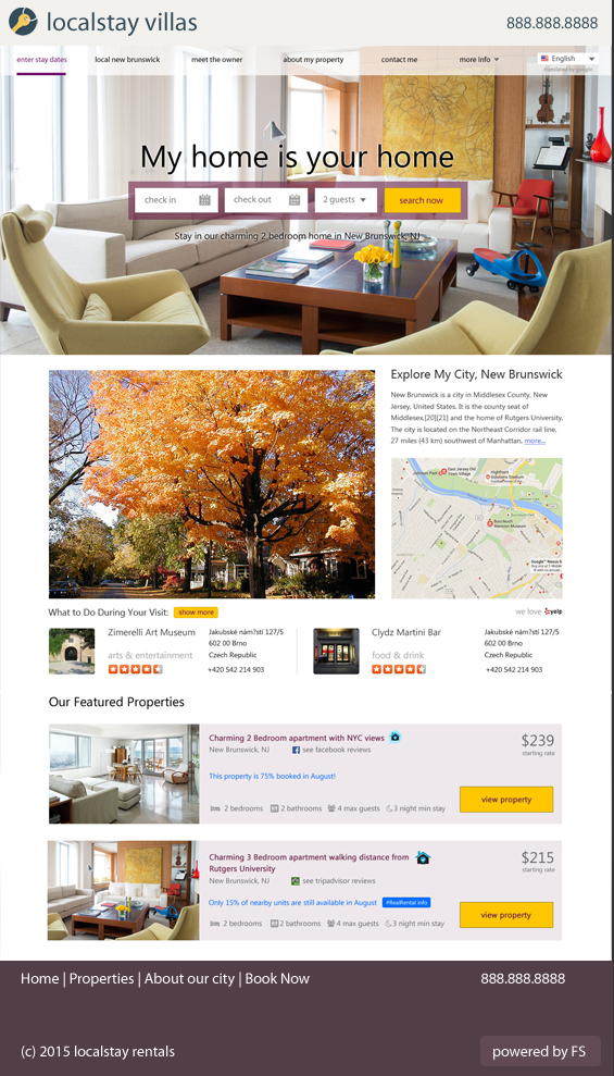 vacation rental website free