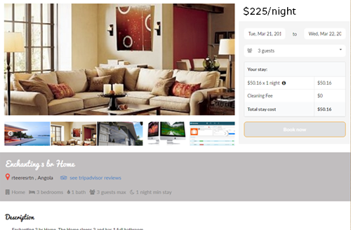 ecommerce for vacation rental website