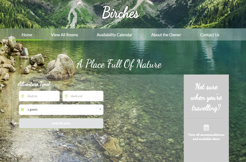 get free vacation rental web template